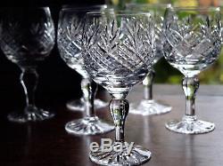 Thomas WEBB Crystal CHILTERN Cut Wine Glass Set of 6, Boxed, Vintage