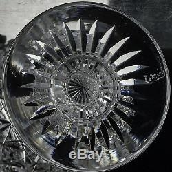 Thomas Webb Crystal Russian Pattern Set of Six Small Wine Glasses Signed