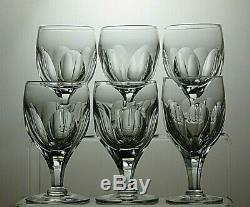 Thomas Webb Crystal Yacht Cut Claret Wine Glasses Set Of 6 4 7/8 Tall