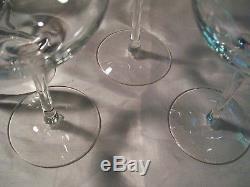 Tiffany & Co. Clear Four Crystal Wine Glasses Stemware Barware