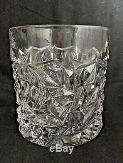 Tiffany & Co. Crystal CHAMPAGNE or WINE ICE BUCKET or VASE Rock Cut Design