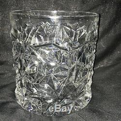 Tiffany & Co. Crystal Champagne or Wine Ice Bucket Chiller Rock Cut Design