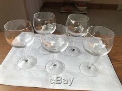 Tiffany Red Wine Glasses Set Of 5 Triangular 3 Ridge Stem