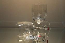 Two (2) Baccarat France Nancy Pattern 6¾ Crystal Water Goblet Stem Glass Label