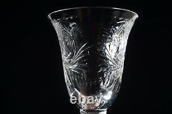Two Hawkes Cut Glass Clarendon Stems 7 1/2 Tall Wine Glasses