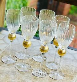 Union Street MANHATTAN GOLD Large Wine Glasses