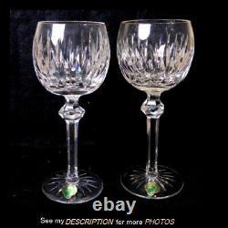 Unused Pair Waterford Cut Crystal Shandon Wine Hock Glasses Goblets