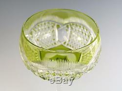 VAL St LAMBERT Crystal Antique Cut Hock Wine Glass / Glasses 7