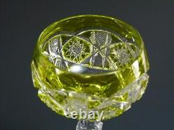 VAL St LAMBERT Crystal SAARBRUCKEN Cut Hock Wine Glass / Glasses 7 5/8