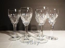 VINTAGE Waterford Crystal CARINA (1987-) Set of 6 Sherry Wine Glasses 5 1/4