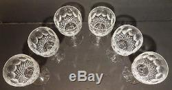 VINTAGE Waterford Crystal COLLEEN TALL (1986-) Set of 6 Claret Wine 6 1/2