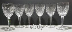 VINTAGE Waterford Crystal GLENGARRIFF (1973-) 6 Claret Wine Glasses 6 1/2