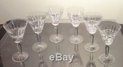 VINTAGE Waterford Crystal GLENMORE (1962-) Set of 6 Claret Wine Glasses 6 1/2