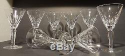 VINTAGE Waterford Crystal SHEILA (1958-) Set of 8 Claret Wine Glasses 6 1/2