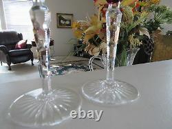 Val St Lambert Crystal Wine Stems-elegant-vintage