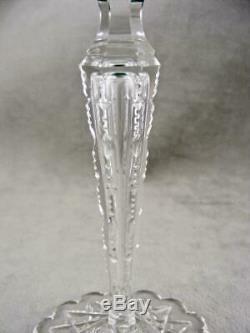 Val St Lambert Emerald Green Cut To Clear Saarbrucken Wine Glass