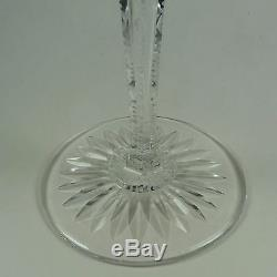 Val St Lambert Green Glass Crystal Wine Cut to Clear Set of 4