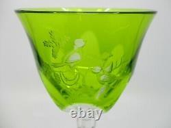 Varga Rothschild Hock Wine Glass Yellow / Green- 8 1/4 X 3 1/2 -0111e