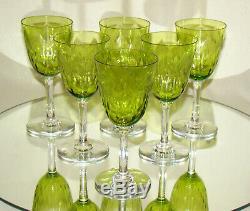 Verres cristal Baccarat Ronsard début XXè Crystal wine glasses