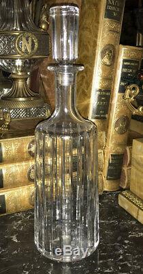 Vintage Baccarat Harmonie Crystal Round Whiskey Wine Decanter