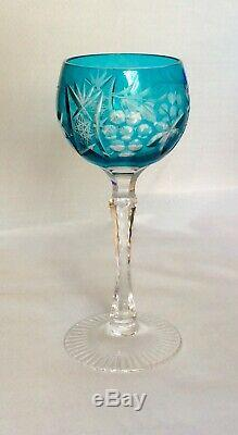 Vintage Czech Bohemian Crystal Wine Decanter With Glasses