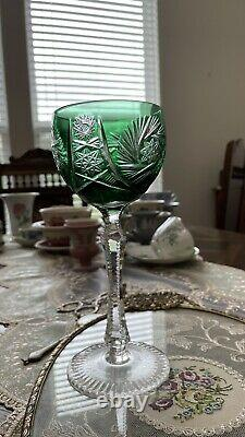 Vintage German Nachtmann Cut-to-Clear Crystal Wine Glasses