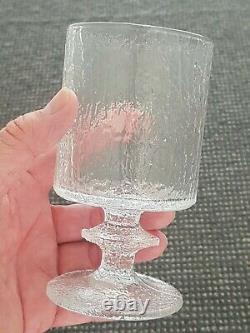Vintage Iittala Senaattori Glass Wine / Water Timo Sarpaneva Finland MCM