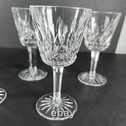 Vintage Lot of 8 Waterford Irish Crystal LISMORE 5 7/8 White Wine Goblets