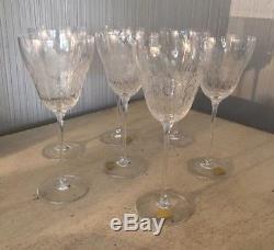 Vintage Rosenthal Set Wine Glasses Stemware Bjorn Wiinblad Romance 7.5 Crystal