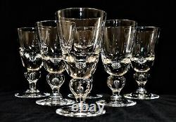 Vintage Steuben Crystal 6 Wine Water Goblets Glasses Tear Drop Barware BALUSTER