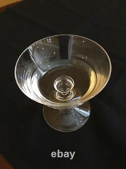 Vintage Val St. Lambert Crystal Cut Footed Goblets or Glasses 6.5