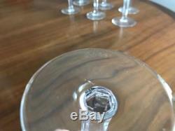 Vintage WATERFORD Crystal ALANA 5-7/8 4oz Claret Wine Glasses Set of 7