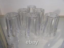 Vintage french crystal 6 wine goblets Baccarat Harcourt pattern 7cl 2,3Fl oz