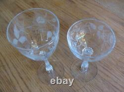 Vtg Cut Etched Crystal Optic 31 Glasses Water Wine Champagne Cocktail Cordial
