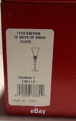 WATERFORD CRYSTAL 12 DAYS of CHRISTMAS ELEVEN PIPERS PIPING FLUTE NEW IN BOX