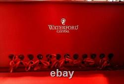 WATERFORD CRYSTAL 12 DAYS of CHRISTMAS FLUTES SET CRIMSON RED DAYS 1-12 IN BOX