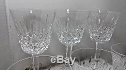 WATERFORD CRYSTAL LISMORE CLARET WINE GLASSES 5 7/8 Set Estate Lot of 6