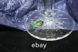 WATERFORD CRYSTAL LISMORE TALL GOBLET GLASSES Pre Owned NICE Qty 6