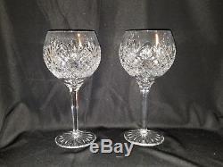 WATERFORD Crystal RONAN Wine Hock/Balloon Goblet set of 4 EXC