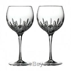 WATERFORD LISMORE ESSENCE BALLOON WINE PAIR Two Pair (4) Glasses #143784