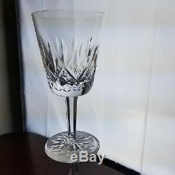 WATERFORD Lismore (6) 7 Water Goblets Wine Glasses & 7 32 oz Pitcher Crystal