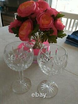 Waterford Classic Lismore Balloon Wine Glass pair Crystal Lismore Balloon wine