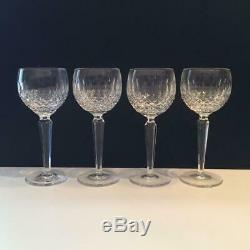 Waterford Colleen Crystal Set Of 4 Wine Hock Glasses Cr1570