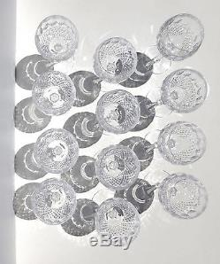 Waterford Colleen Short Stem Balloon Wine Glasses Cut Crystal Clear Set of 12