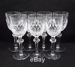 Waterford Crystal 7 Curraghmore Wine Claret Wine Glasses, 7