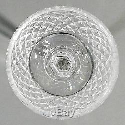 Waterford Crystal ALANA Set of 4 Wine Hock Goblet Glass 7 3/8 Acid Mark Ireland
