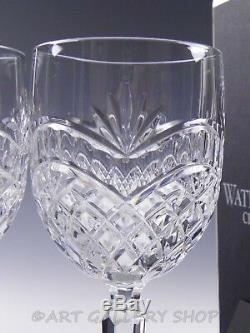 Waterford Crystal ARTISAN WINE WATER HOCK GOBLETS PAIR Signed Fred Curtis Boxes
