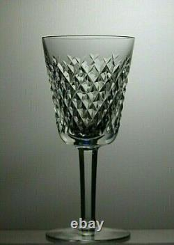 Waterford Crystal Alana Cut Wine Glasses Set Of 6 Signed 5 5/8 Tall