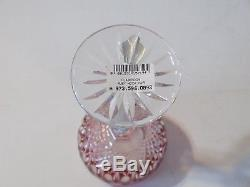 Waterford Crystal CLARENDON RUBY 8 Wine Hock Pair New withTags