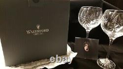 Waterford Crystal Christmas Nights Set of Two 12 oz Wedge Cut Balloon Wine Glass